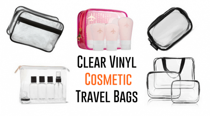 Clear Travel Makeup Bags