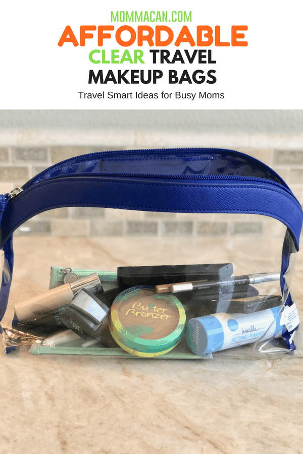 Affordable Clear Vinyl Cosmetic Travel Bags - Find the perfect budget-friendly makeup bag and get organized for your next trip! | Mommacan