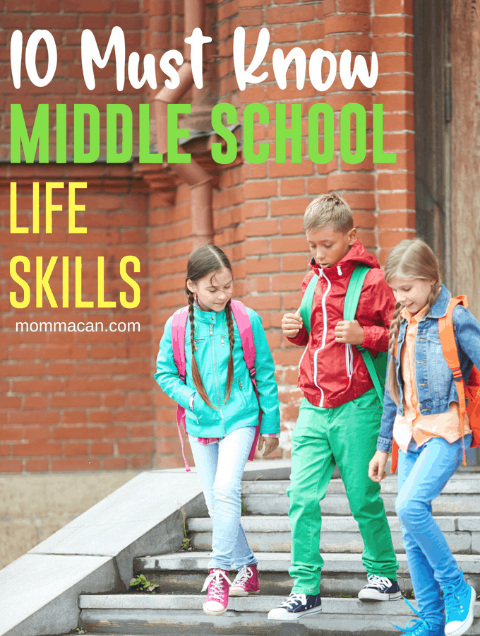 10 Essential Middle School Life Skills to know before High School