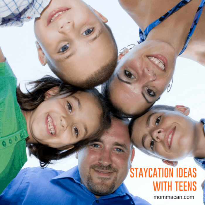 Staycation Ideas with Teens | Plan a wonderful at home vacation witn your teens and enjoy wonderful family time on a budget.