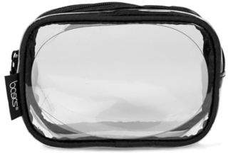 Clear Cosmetic Travel Bag from Walgreens, the perfect size