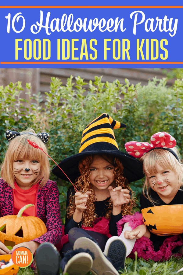 Halloween party food for your kids does not have to be fancy. Just gather a few ideas and let the kids choose one or two! This is a spooky silly collection of the best! #Halloween #Party #Food #Ideas #Kids