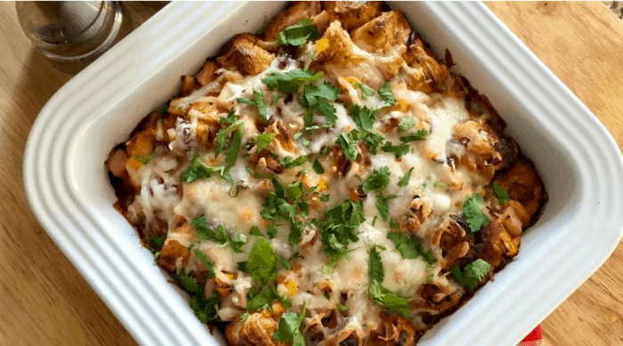 BBQ Turkey Pizza Casserole a pizza family treat that stays on budget.