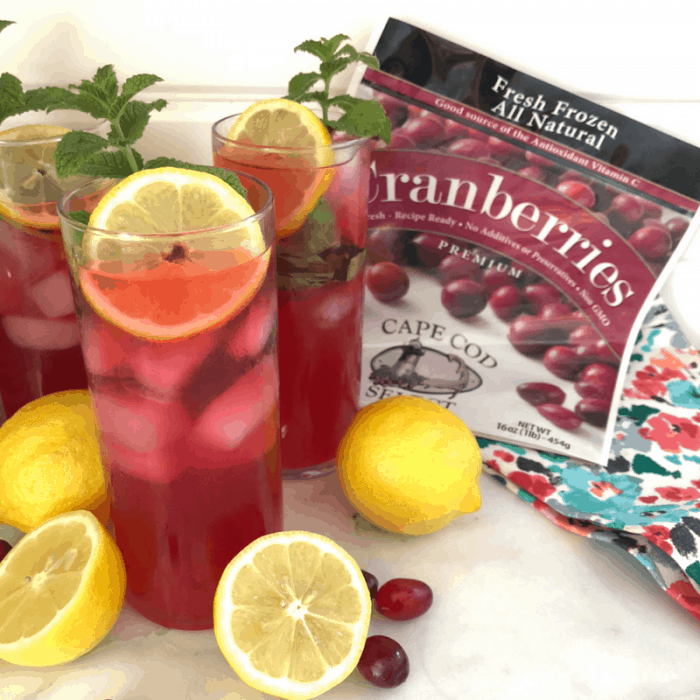 Basil Mint Cranberry Lemonade Recipe