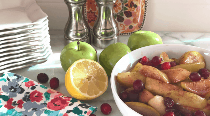Country Style Fried Apples and Cranberries | From Momma Can | A recipe for busy families