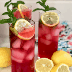 Homemade Basil Mint Cranberry Lemonade Recipe | Momma Can | Enjoy this wonder recipe on the patio with friends!