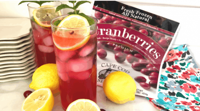 Homemade Basil Mint Cranberry Lemonade Recipe