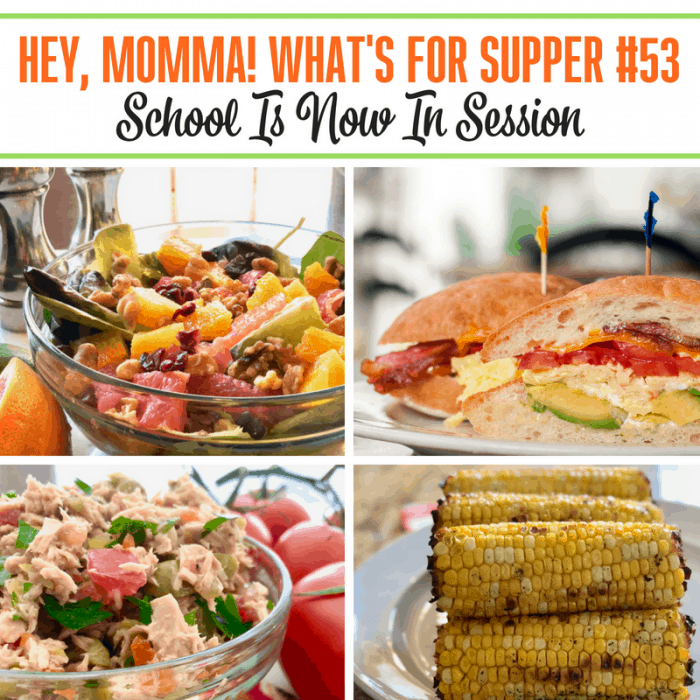 School Is Now In Session! Grab our menu plan and get inspired in the kitchen this week!