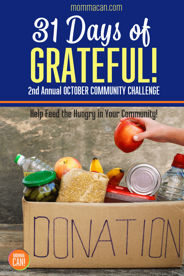 31 Days of Grateful Feed The Hungry Challenge