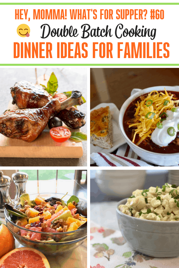 Double Batch Cooking Do you need some menu ideas for this week? We are sharing simple recipes for family dinners that can be double-batched cooked for easy meals next week! Check out these amazing recipes for inspiration right away and find out what's for supper at Momma's house.