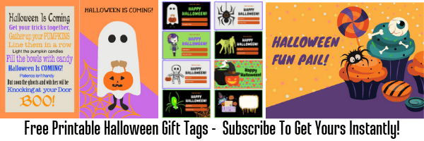 photo about Free Printable Halloween Gift Tags called Free of charge Printable Halloween Present Tags - Momma Can