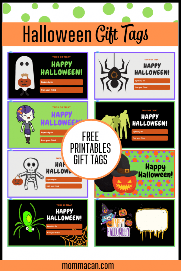 Free Printable Halloween Gift Tags, perfect for Halloween Gift Baskets