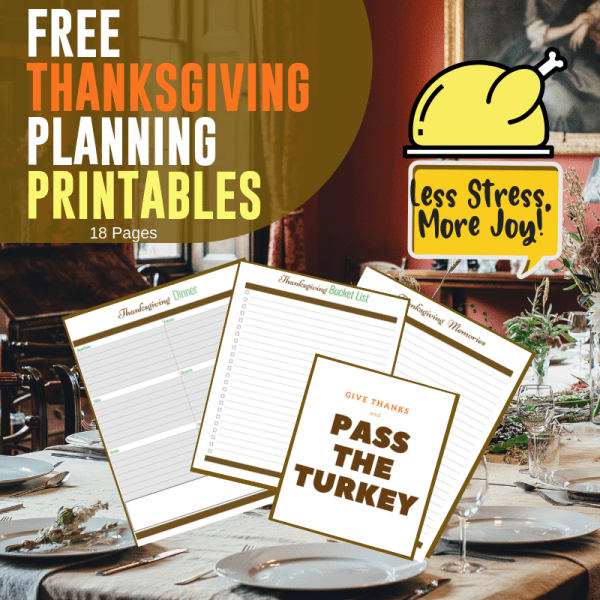 Free Thanksgiving Planning Pages a Printable Document from Mommacan.com
