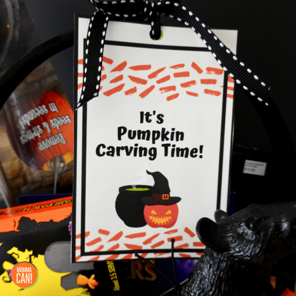 alloween Pumpkin Carving Gift Basket | Pumpkin Carving Gift Basket Tag