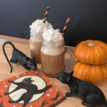 Salted Caramel Apple Cider Float – Creamy vanilla ice cream, salted caramel, and yummy apple cider. A fall dessert drink .