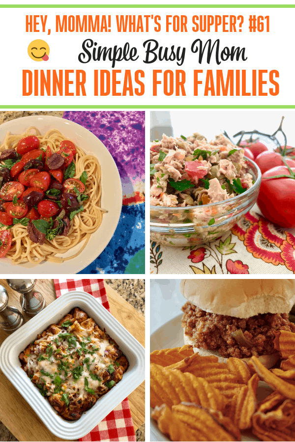 Simplifying the meal planning process is a snap with our list of Simple Busy Moms Dinners! Check out this list and plan three simple dinners this week!