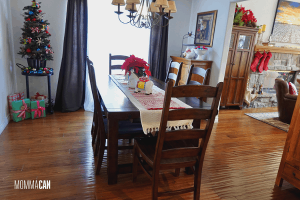 Christmas Dining Room Simple and Festive