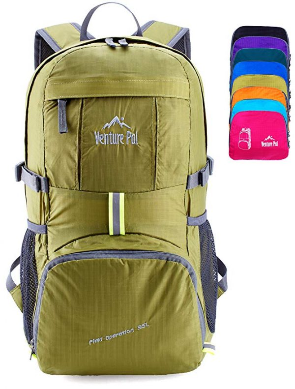 Venture Pal Lightweight Packable Durable Travel Hiking Backpack Daypack a great gift for any guy or gal.