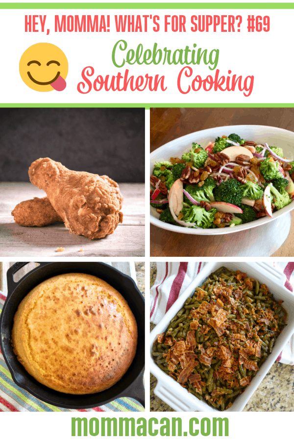 Celebrating Southern Cooking with a week of recipe and dinner ideas from the deep south! Let's get cooking and let's get eating! Don't forget y'all, Friday is Pie Day! #southern #south #dinner #ideas