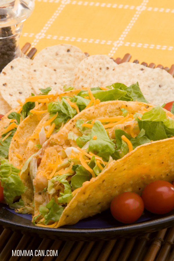 Whole Food Recipes are easy! Read the ingredients and enjoy tacos!