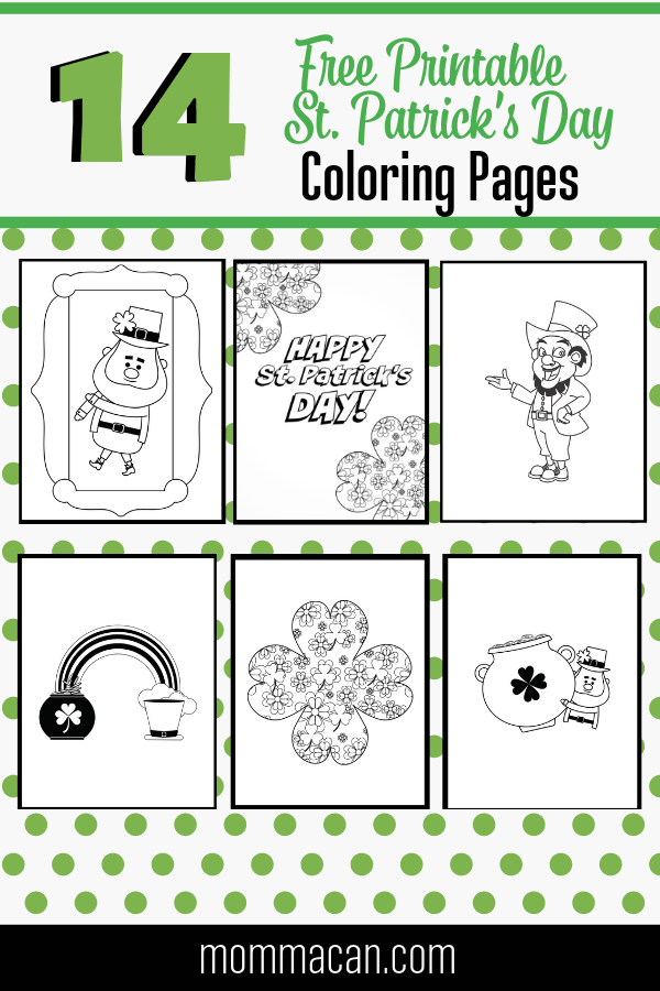 Free Printable Happy St Patrick S Day Coloring Pages Momma Can