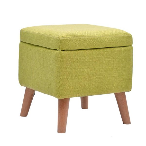 Green Shoe Changing Ottoman With Storage