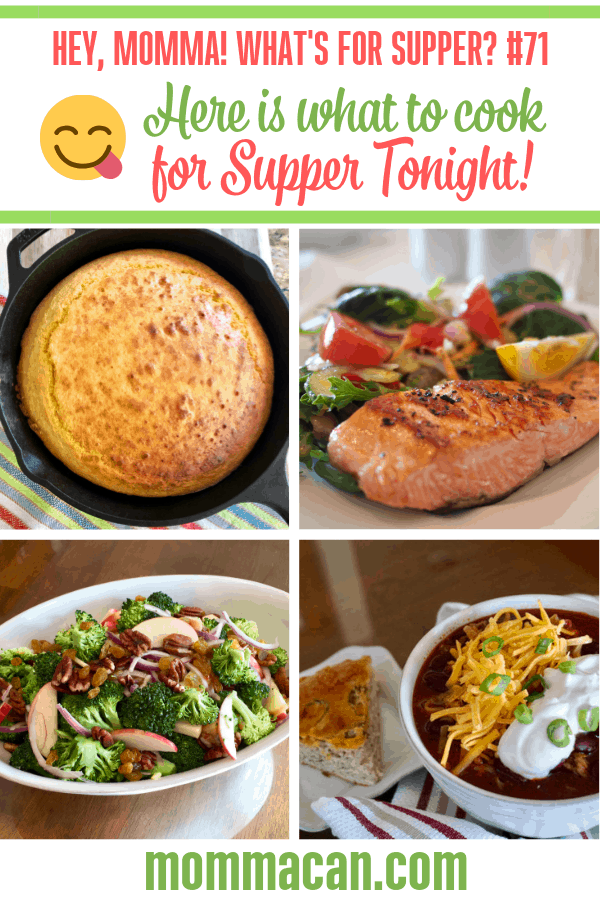 Here Is What To Cook For Supper Tonight | Recipes for busy mom to cook for supper. Roast Chicken, Salmon, and Chili