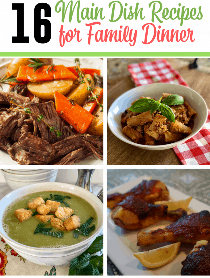 Weeknight Family Main Dish Dinner Ideas