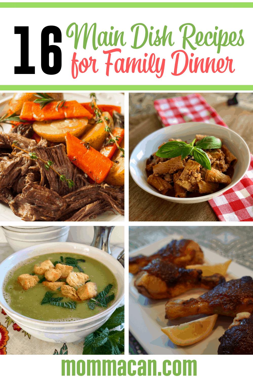 Weeknight Family Main Dish Dinner Ideas