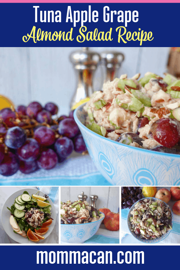 Apple Grape Almond Tuna Salad Recipe