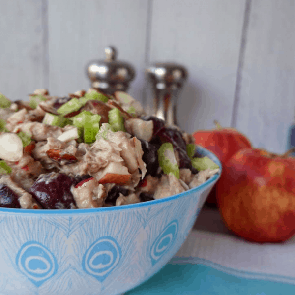 Apple Grape Almond Tuna Salad