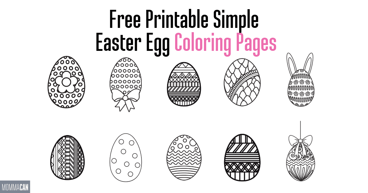 picture about Free Printable Easter Egg Coloring Pages titled Free of charge Printable Easter Egg Coloring Webpages - Momma Can