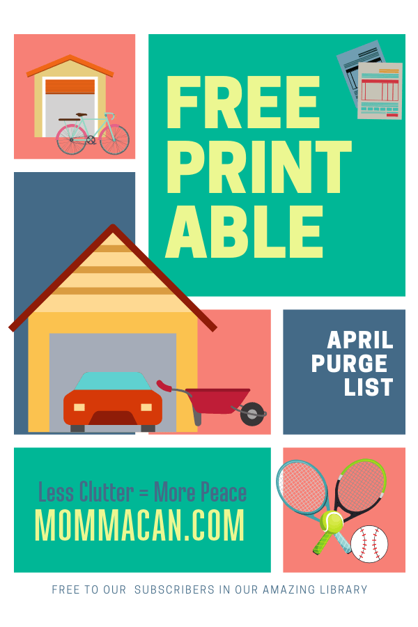 Free Printable April Decluttering List