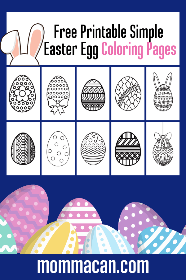 photograph about Printable Easter Egg named Absolutely free Printable Easter Egg Coloring Internet pages - Momma Can