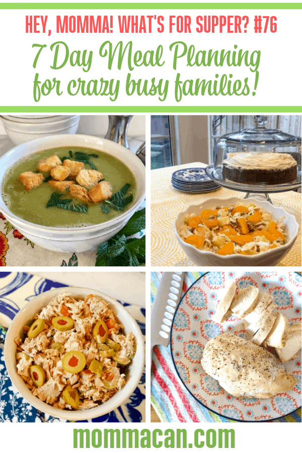Seven Day Meal Planning for Crazy Busy Families