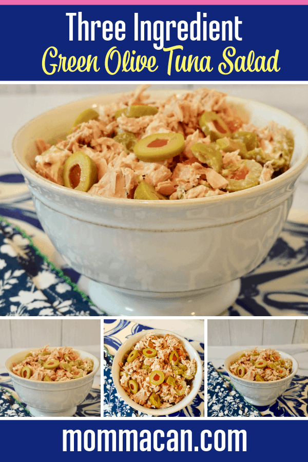 Three Ingredient Green Olive Tuna Salad Recipe