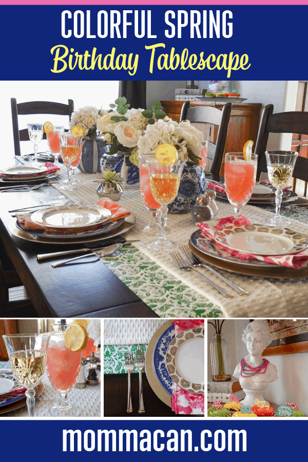 Colorful Spring Birthday Party Tablescape