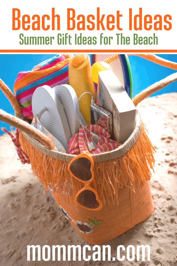 Tropical Beach Theme Gift Basket Ideas