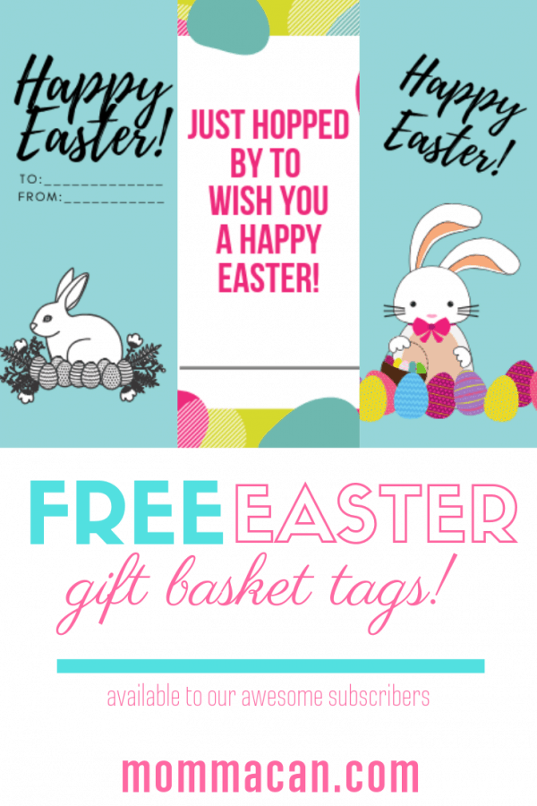 Free Printable Easter Egg Decorating Gift Tags