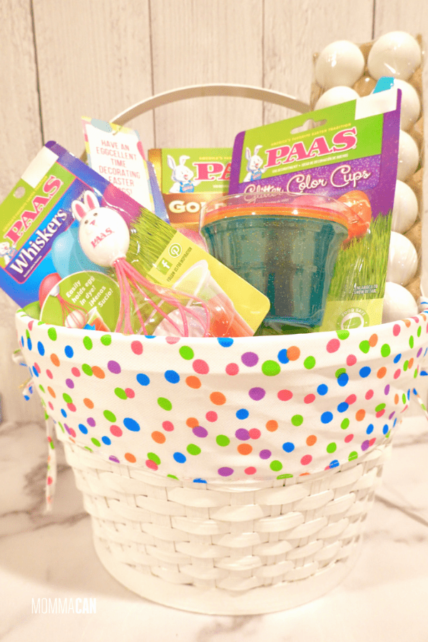 Easter egg Decorating Dyeing Gift Basket Ideas