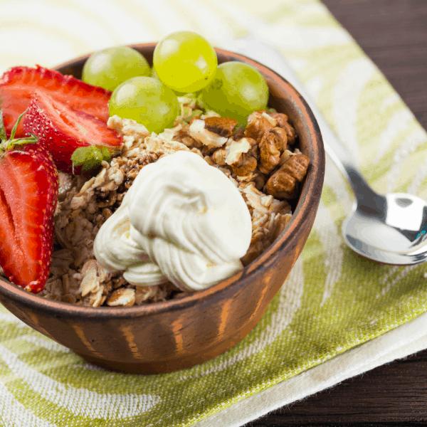 Healthy Fruit and Granola Breakfast