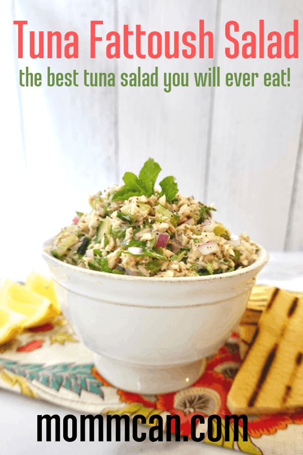 Lebanese Tuna Fattoush Salad Recipe