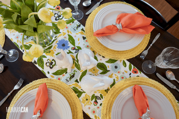 Simple Easter Garden Colorful Table Runner
