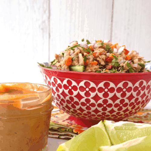 Thai Tuna Salad With Peanut Dressing - Easy Recipe