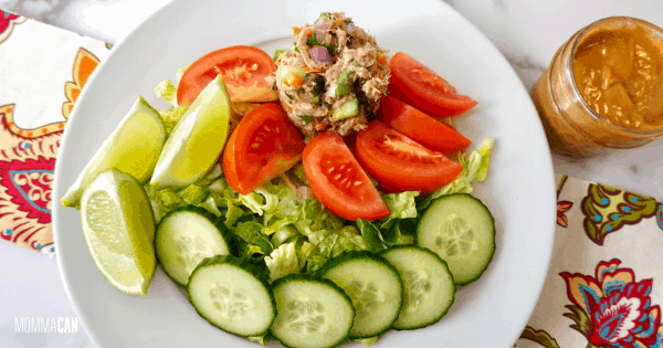 Thai Tuna Salad With Peanut Dressing makes a great salad.