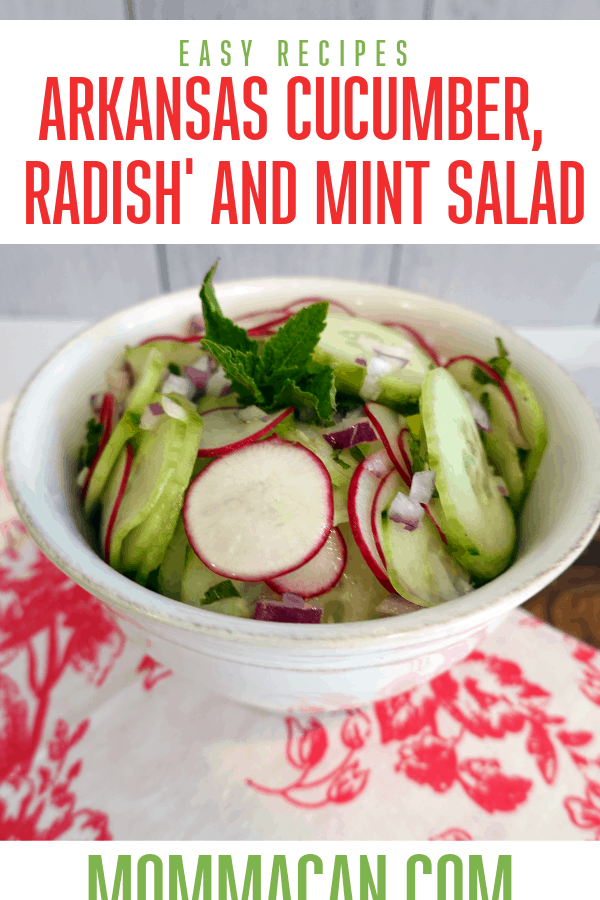 arkansas cucumber radish and mint recipe