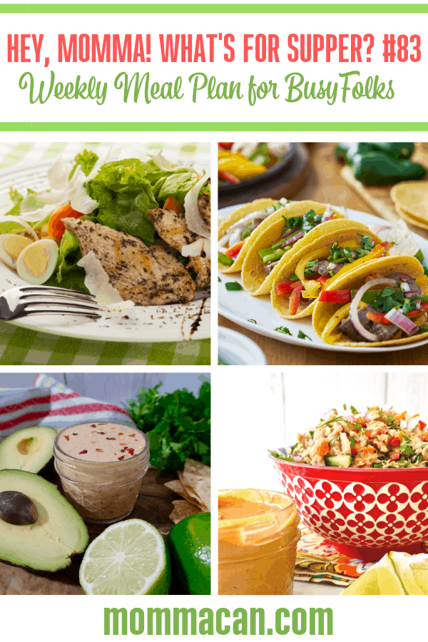 Weekly Dinner Ideas for busy families