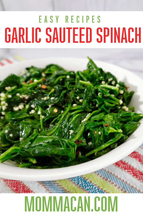 Bright Green Spinach with Garlic