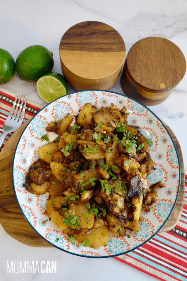 Spicy Chili Fried Potatoes and Onions
