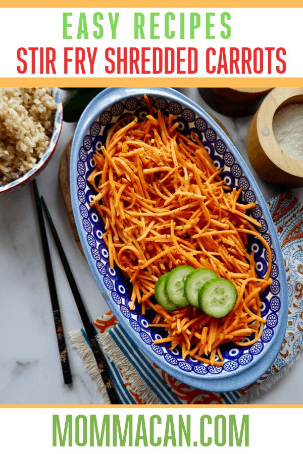 Stir Fry Shredded Carrots